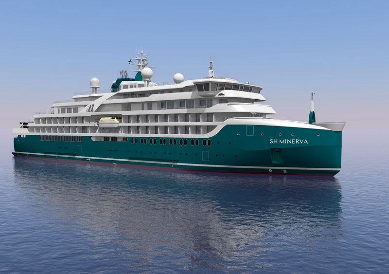 Artists Rendering of Swan Hellenic Cruise Ship SH Minerva.